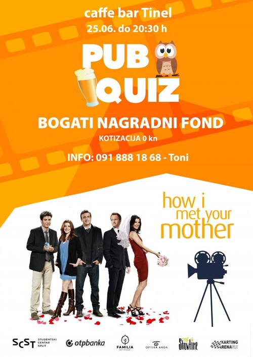 SCS - How I met your mother pub quiz u četvrtak 25.06.